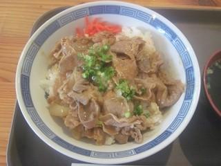 横尾山荘 - 豚スタミナ丼(アップ)