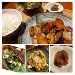 29753924 - 味噌炒めはお味がしっかり目でご飯に合うらしい。揚げ出し豆腐が美味しいと言っていました。