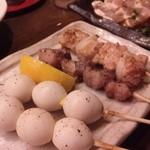 焼き鳥ダイニング 鈴木 - うずら卵、ずり?、もも
