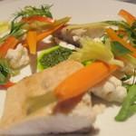 29755983 - カンパチのエスカベッシュ、マリネした野菜とハーブ添え