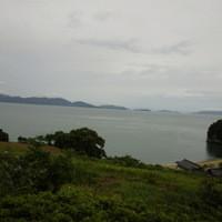 南風荘-窓からの景色(台風前)