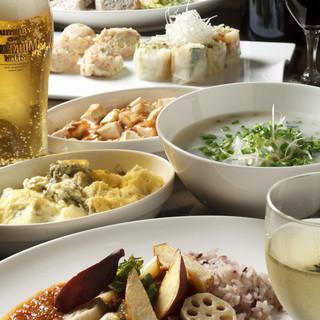 毎月変わるコース料理☆アジアンテイストをお楽しみに!!