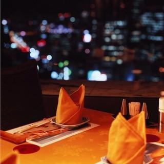 ☆夜景の綺麗な窓側のお席☆