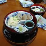 29765438 - 茶壺弁当 一段目(湯葉、生麩、こんにゃく)