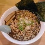 一平 - 背油煮干そば(麺300g):740円(税込)【2014年8月撮影】