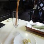 CaSa - 自家製グリッシーニにクリームチーズ