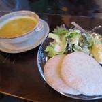 カフェ・グレ - ピタパンとスープのAセット