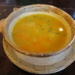 カフェ・グレ - ひよこ豆と野菜のスープ
