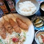 焼鳥旬鮮 たけし - チキン串カツ定食 780円