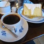 カフェ・グレ - ブレンド(五番町)、フレッシュオレンジシフォンケーキ