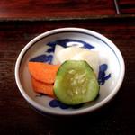 加茂川 - おしんこもいい塩梅です。