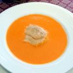 シラノ・ド・ベルジュラック - 赤ピーマンのスープ、トマトムース添え