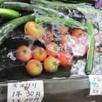 かかし庵 - 料理写真:冷やしトマト&キュウリ
