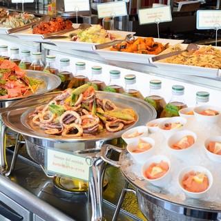 ◆女性に大人気!「前菜とドルチェのビュッフェ」
