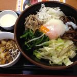 麺処よっちゃん - 上海油そば:ランチ(大盛•麻婆•杏仁付)¥750-