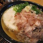 うどん 丸香 - 肉うどん+丸天(きのこ)