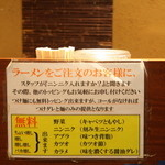 ラーメンつけ麺 笑福 - トッピング