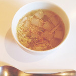 ニロ カフェ - ランチのスープ