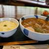鄙星 - 料理写真:麦とろご飯がいただきたかったので、牛カレーうどんと麦とろご飯を注文しました