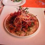 ビストロ オランジュ - 寒ブリのカルパッチョ(トマトのコンポートや野菜たっぷり)