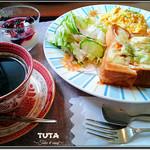 TUTA - ピザトーストセット(ホットコーヒー) ¥850→¥540