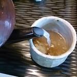 九つ井 - 蕎麦湯~♪