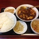 紅郷 - 四川マーボー豆腐煮(込)みランチ(\700円/2014)