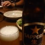 赤から - ドリンク写真:飲み放題は瓶ビール(~_~;)