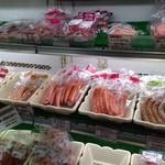 道の駅 七城メロンドーム - お肉やお豆腐、お茶コーナーあり