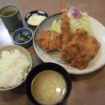 とんかついな葉 - 料理写真:鱧ミックス定食 1,300円