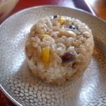 嚼夢果  - もっちりしたご飯にお豆の相性が良いですな~
