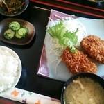 ひの亭 - 2014.08再訪 カニクリームコロッケ定食(756円)