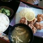 ひの亭 - 2014.08再訪 とり唐揚げ定食(734円)