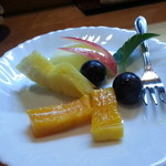 寿司割烹 西村 - 〆に果物