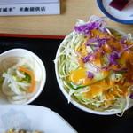 丸金食堂 - サラダもたっぷり!