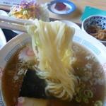 丸金食堂 - 麺は得に特徴ないですが普通に美味しいです