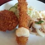 洋食レストランメルサ - メンチカツ・海老フライ・生姜焼き