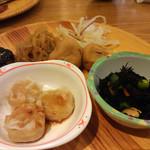 旬菜食健 ひな野 - 味噌茄子 焼売 ひじき 他