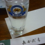 あかだま - ドリンク写真:麦焼酎水割り一杯目