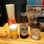 でびっと - ビール400円・小瓶(/_;)