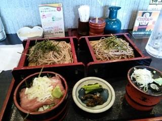 関所茶屋 - ミニ丼そばセット