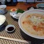 和おん - 黒豚の担々うどん定食
