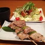 和み - 料理写真:串もの&サラダ