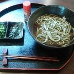 29828374 - 抹茶蕎麦(税抜601円)温蕎麦