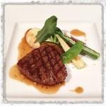 """レ・セレブリテ - ホテル日航熊本""""レ・セレブリテ""""『メイン』 …こちらは甥っ子くんがセレクトした肉料理。"""