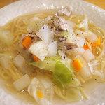 イリスサクレ - いろいろ野菜のあっさりスープパスタ