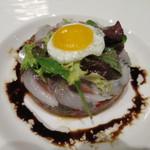 レストラン タニ - イワシのマリネと夏野菜のマリネのサラダ仕立て