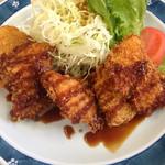花月亭 - 日替わり定食の白身魚フライ
