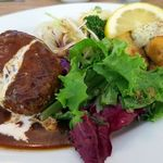 洋食 さかぐち - Bランチ(チキン南蛮と煮込みハンバーグ)1000円