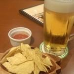 29839253 - 生ビール+お通し(無料)